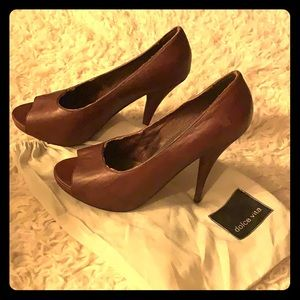 Dolce vita brown leather heels (altered)